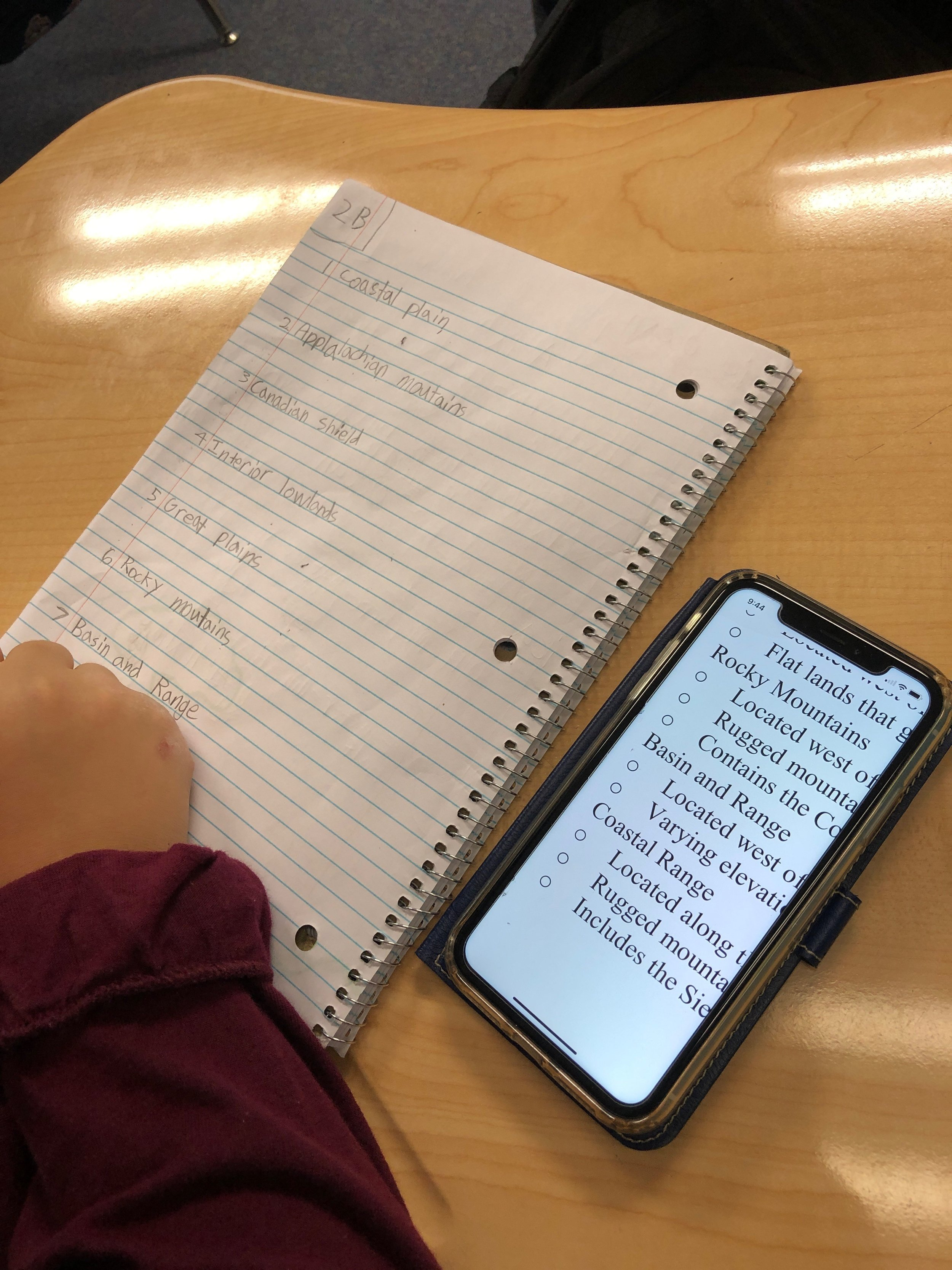 Using a personal device to reference the Standard of Learning (SOL) is appropriate use of technology.