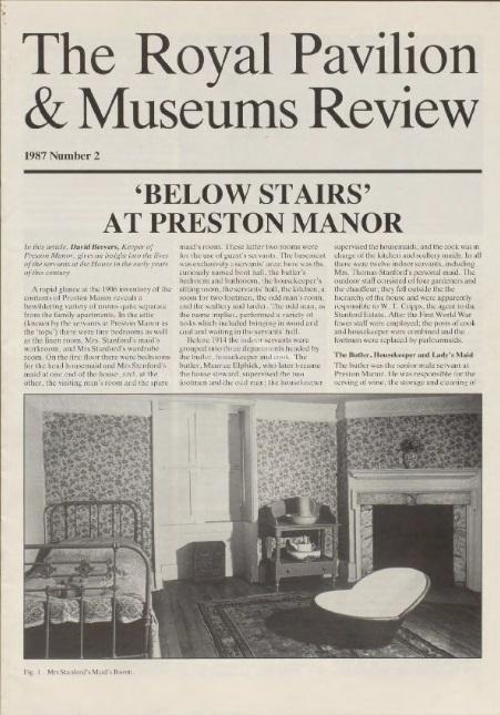 'Below Stairs' at Preston Manor