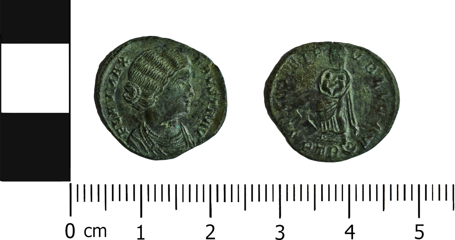 (MOL.208.75.276 Obverse: Fausta, Reverse: Fausta (as Salus) cradling her two sons- Constantine II and Constantinus II, Minted in Trier)