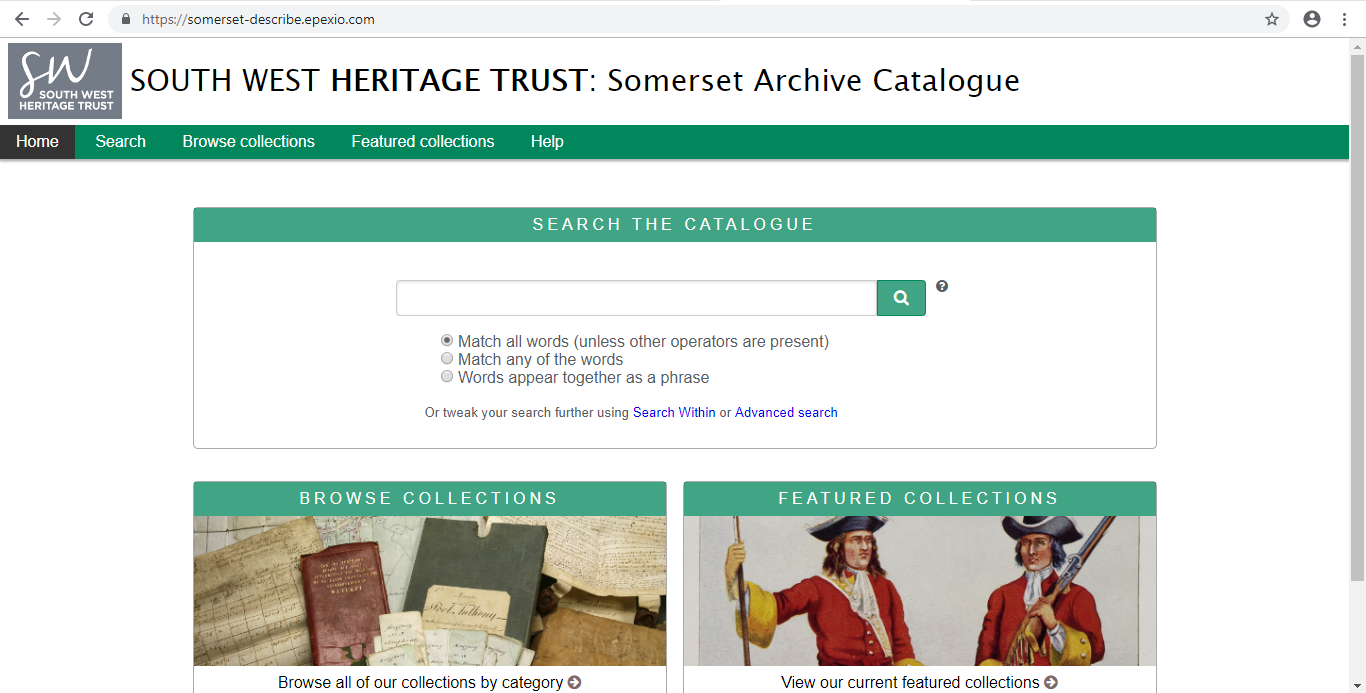The Somerset Archive Online Catalogue.