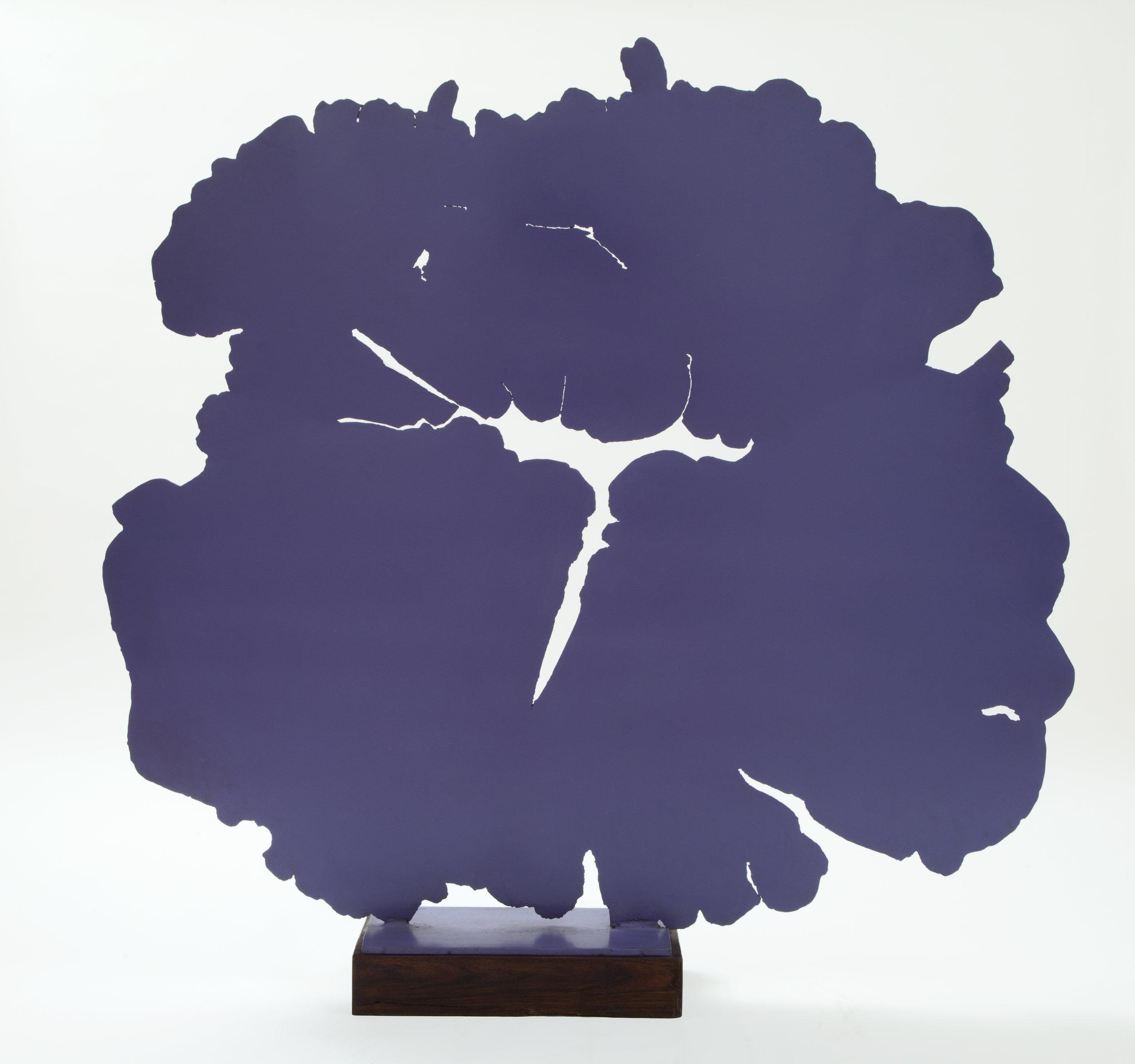 Pietro Consagra  Giardino viola,  1966 Ferro verniciato 130.5 x 143.5 x 0.5 cm Acquisto 2001   ESPANDI