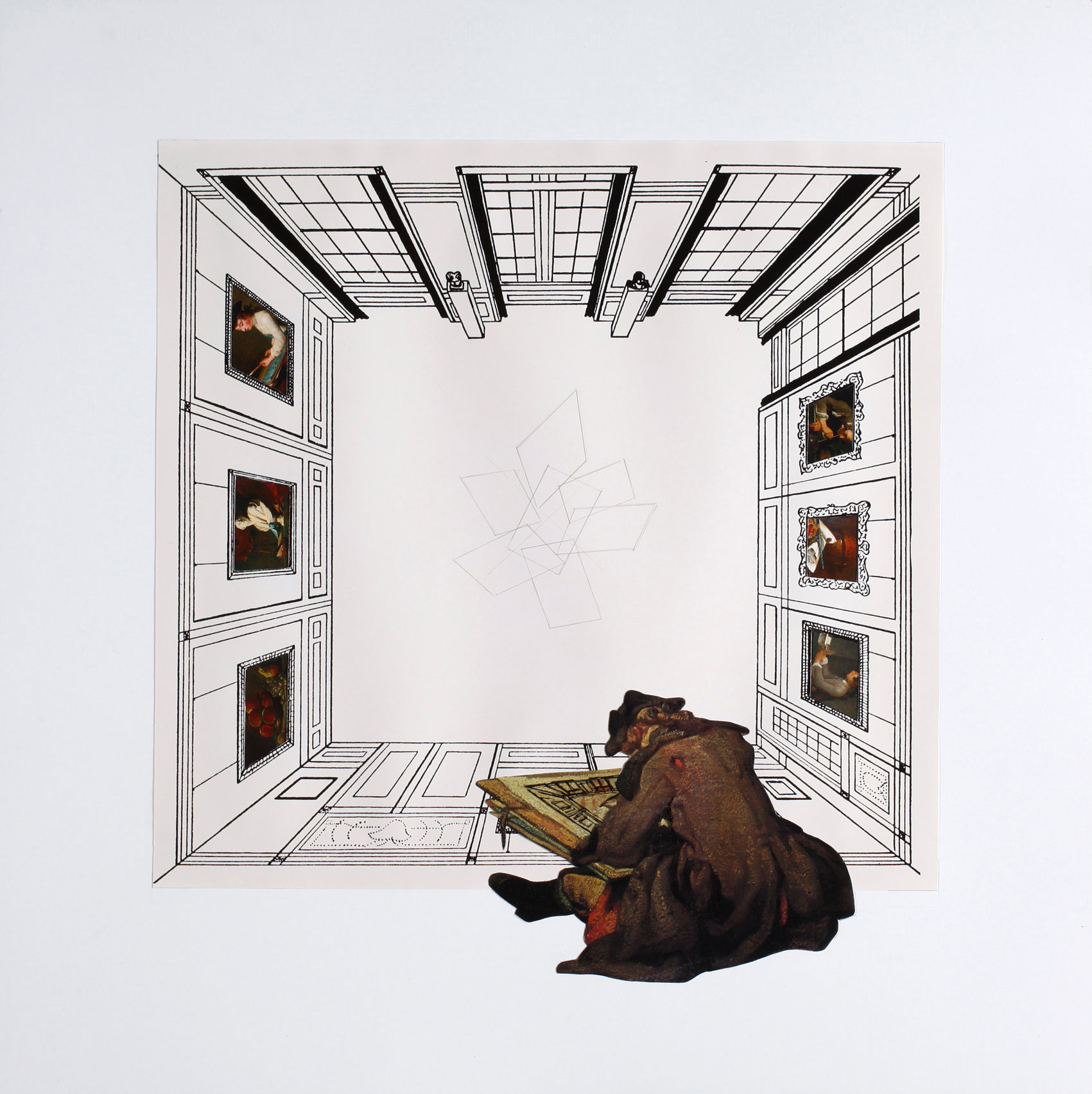 GIULIO PAOLINI - Le jeune dessinateur, 2012Matita e stampa litograficasu carta60 x 60 cm80 esemplariCHF 1'000