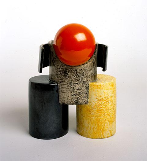 Fillia (Luigi Colombo)  Senza titolo,  1923 Ceramica policroma, 32x25x15cm Acquisto 2004