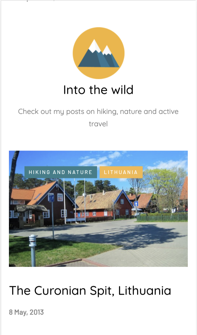 Phone view of Into the Wild Icon