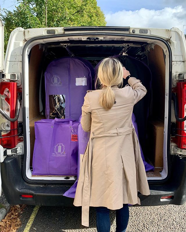 It's a busy time of year here at TWS! Here we are switching one of our client's wardrobes from Spring/Summer to Autumn/Winter. Here we take all summer garments back to our HQ and replace them with lots of cozy coats and fluffy knits!