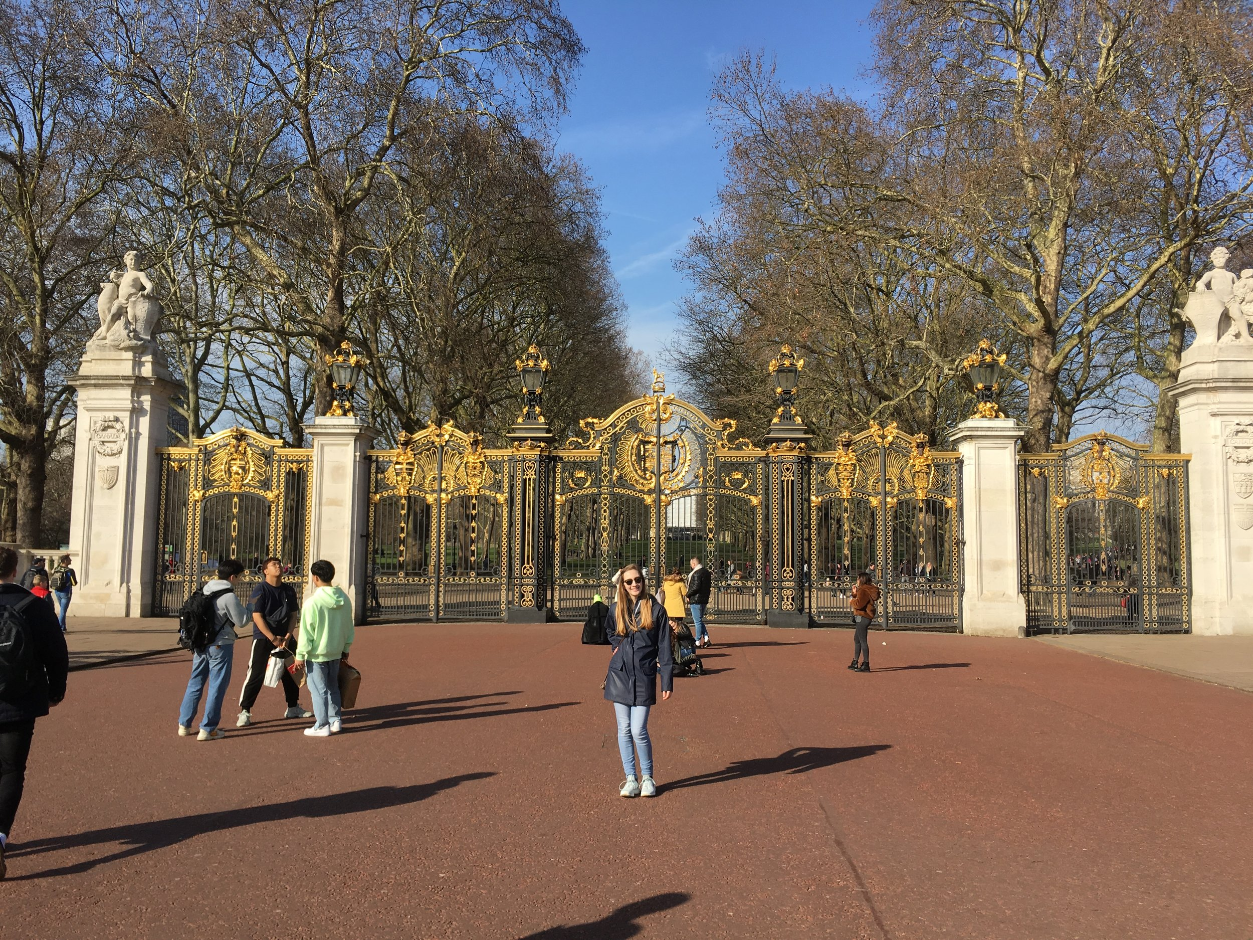 Kathleen in front of the Canada Gates