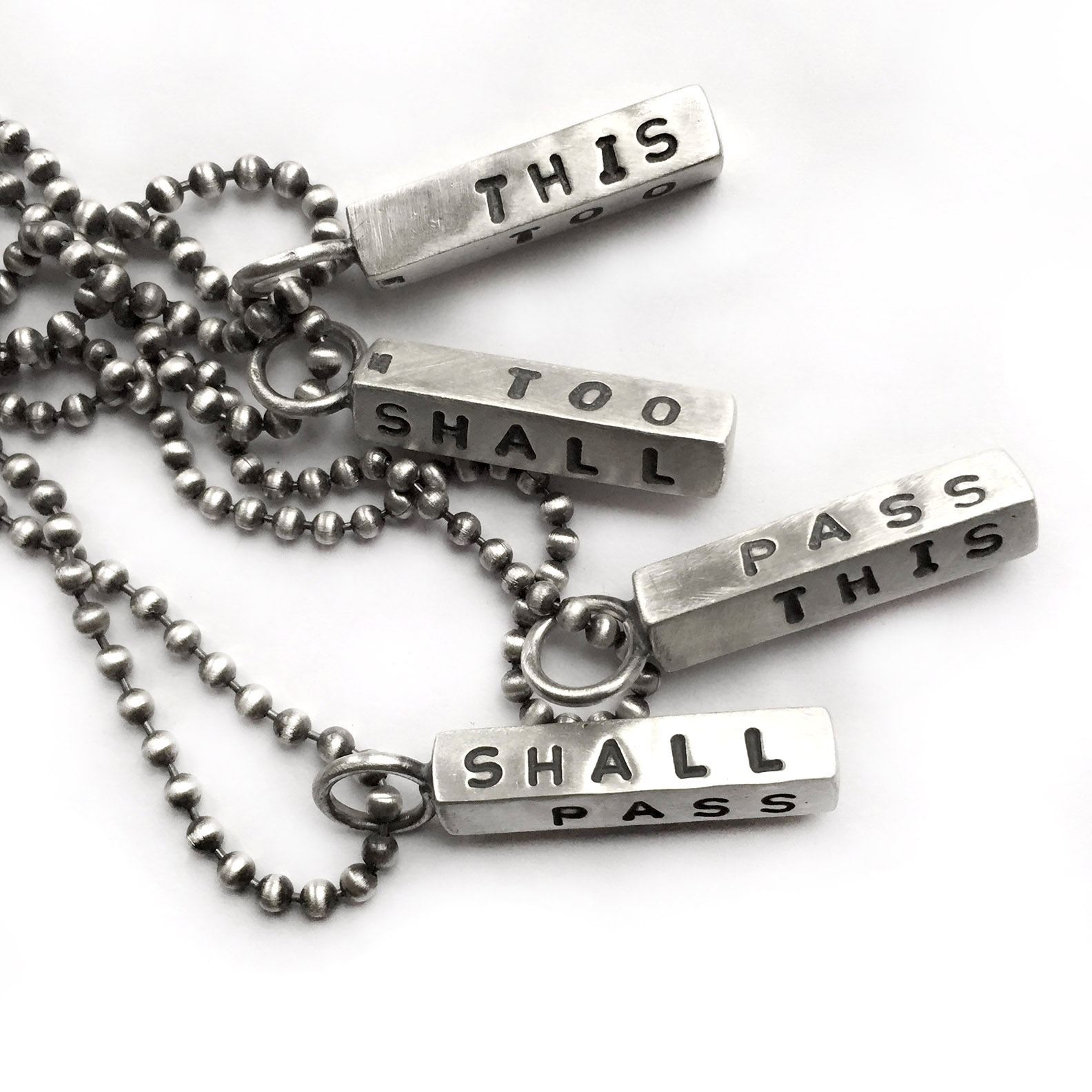 This Too Shall Pass Sterling Silver Necklace