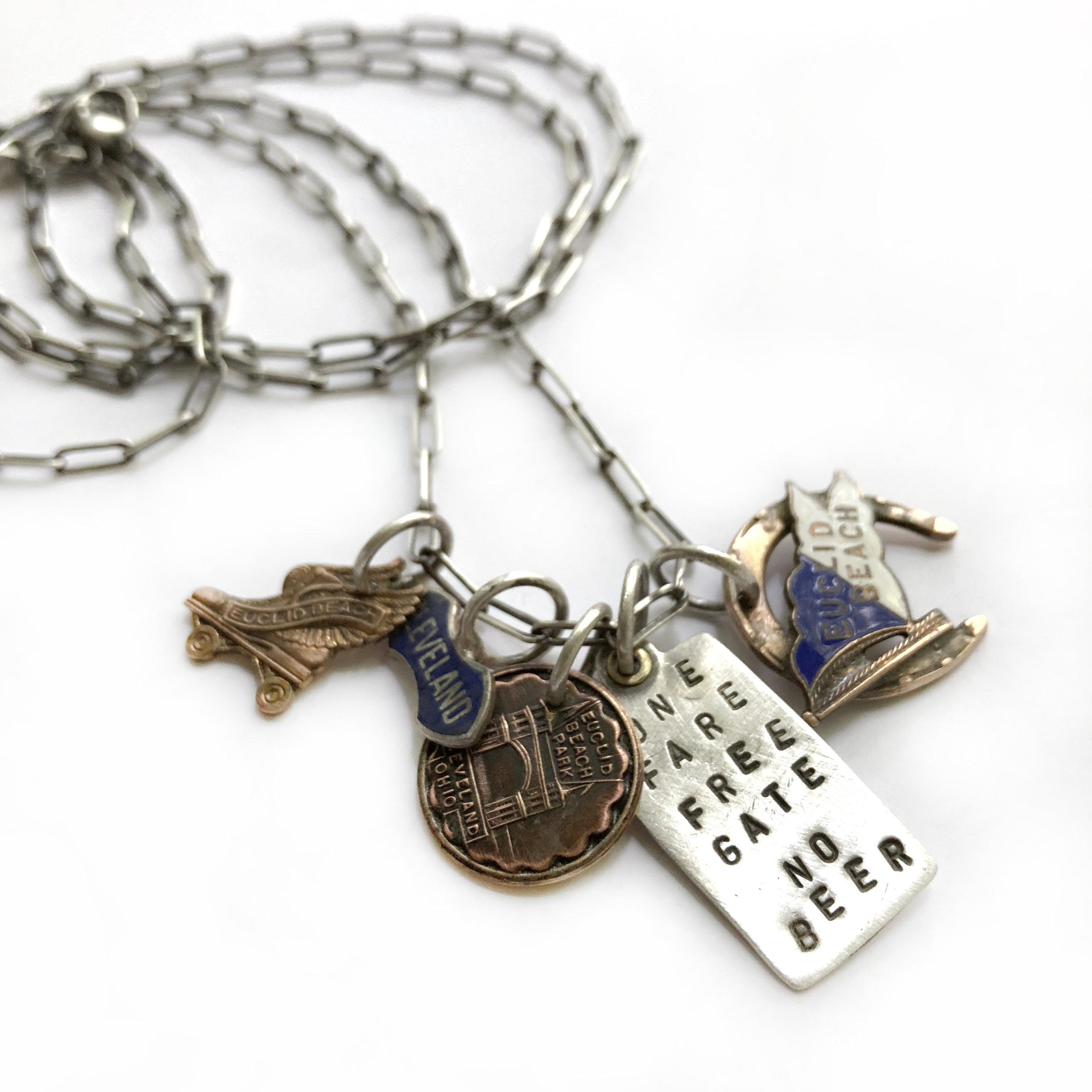 Euclid Beach Charm Necklace