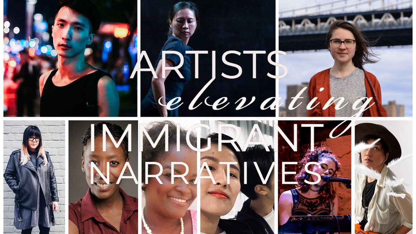 Artists Elevating Immigrant Narratives - Saturday, May 18th, 6-9pmBrooklynWorks at 159159 20th Street, Brooklyn, NY 11232Multidisciplinary works that focus on the theme of immigration in America.https://www.facebook.com/events/358819718073091/