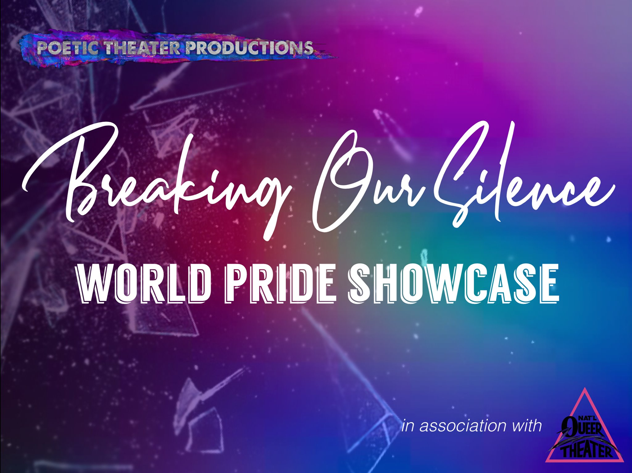 Breaking Our Silence: World Pride Showcase - Thursday, June 27th, 9:30 PMIRT Theater - 154 Christopher St, New York, New York, 1001450 years ago, the Stonewall Riots was a flashpoint of queer activists breaking the silence and claiming their right to exist. Now, we celebrate five decades of queer voices coming together in resistance, community, and pride.https://www.facebook.com/events/1280197668804796/