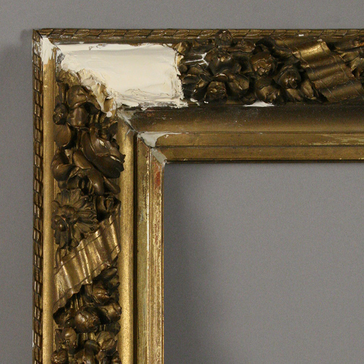 Damage to gesso and gilt surface