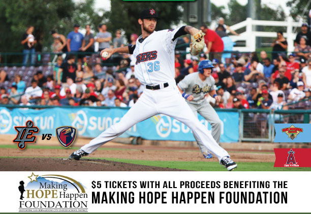 $5 tickets with all proceeds benefiting the making hope happen foundation