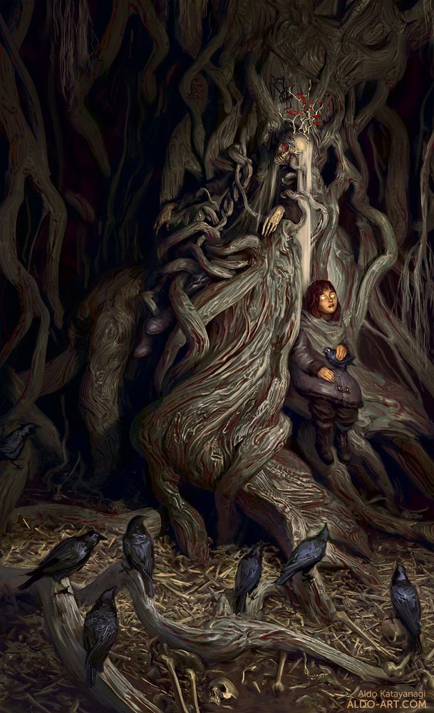 A thousand eyes, a hundred skins, wisdom deep as the roots of ancient trees. Greenseers.  —the three-eyed crow to Bran Stark