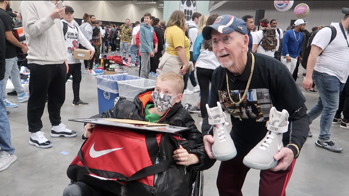 Grandpa and Michael at Sneakercon Cleveland on March 16th, 2019.