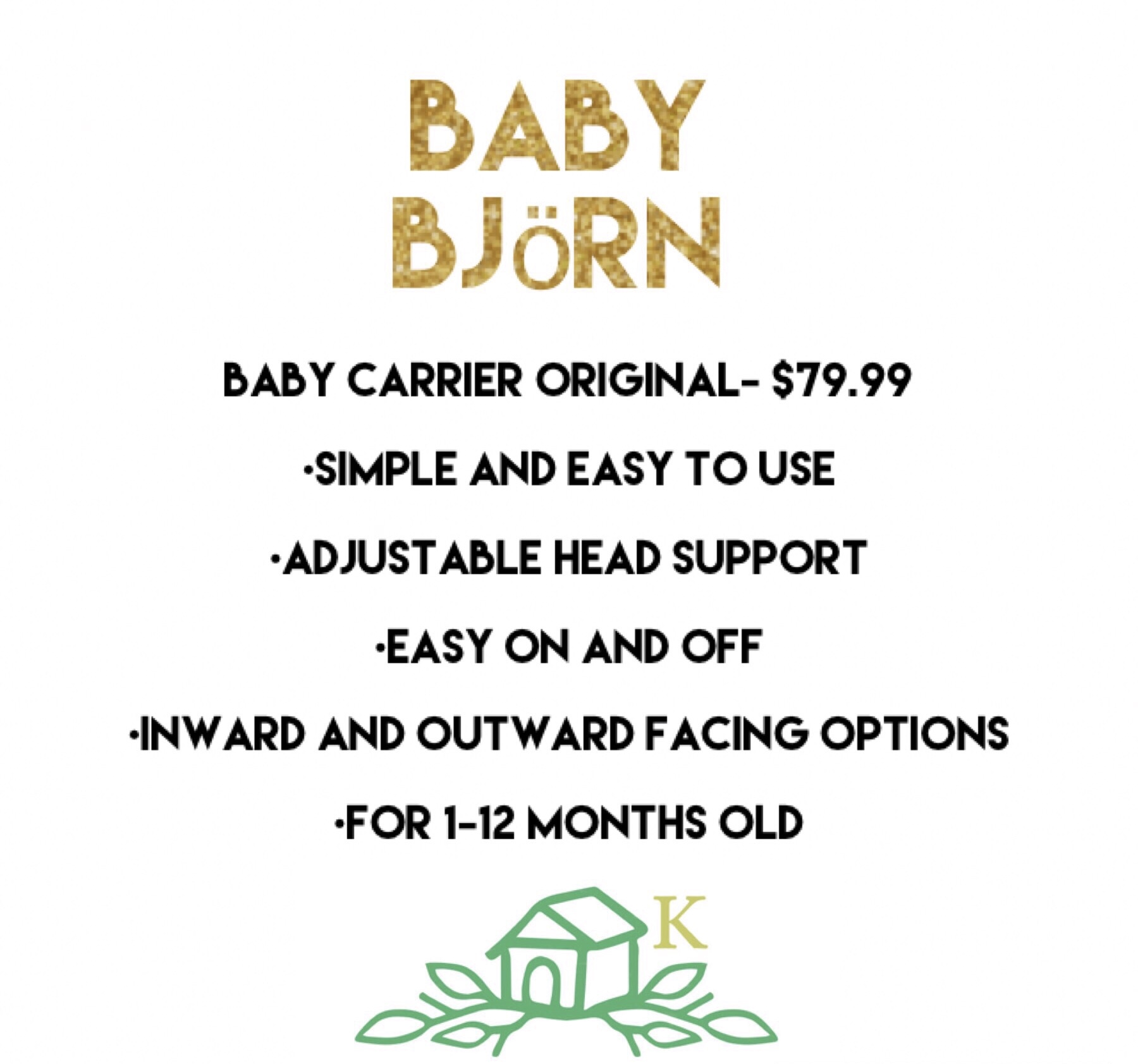 purchase here:  https://www.babybjorn.com/baby-carriers/original/