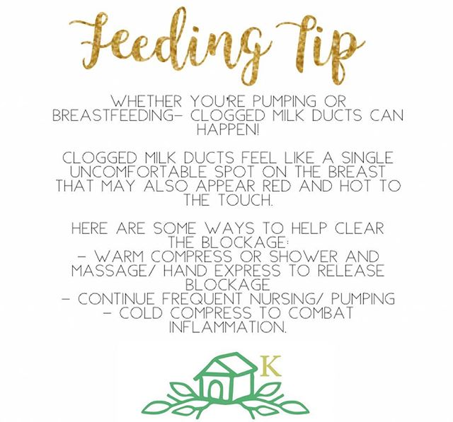 A Tip A Day- #4 👶🏽🍼 ••• Clogged milk ducts can feel painful and uncomfortable, but sometimes, they happen! Here are some tips on how to help relieve a blocked milk duct and get back to comfortably feeding your little one! #themoreyouknow