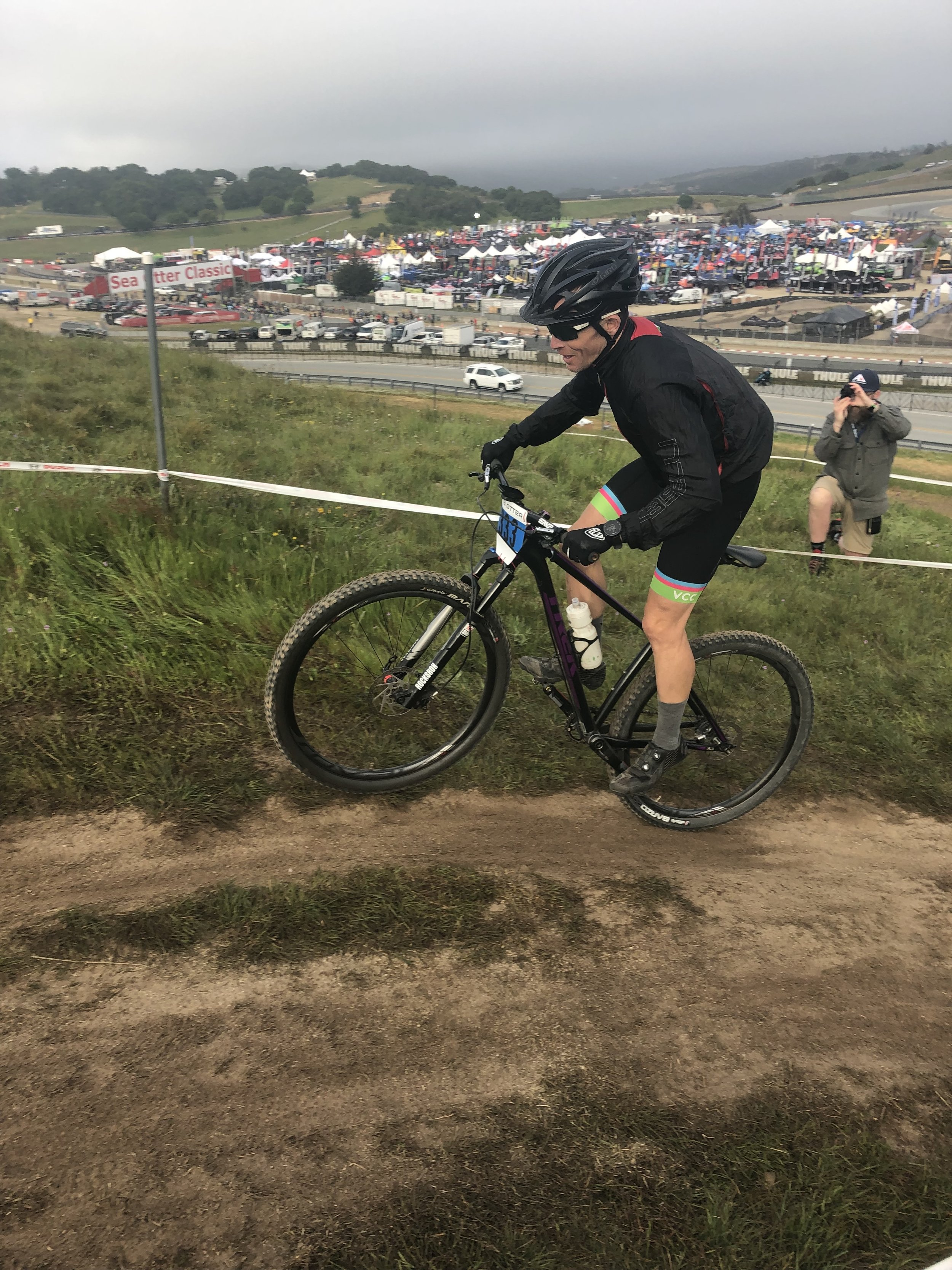Wait…Eddie, where is your front and rear derailleur??? Eddie enjoys the simpler things in life such as single speed mountain bike races.