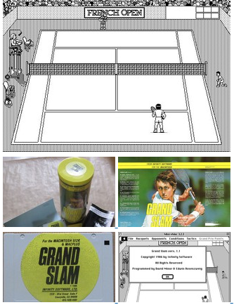 The first tennis game simulation for the Mac computer