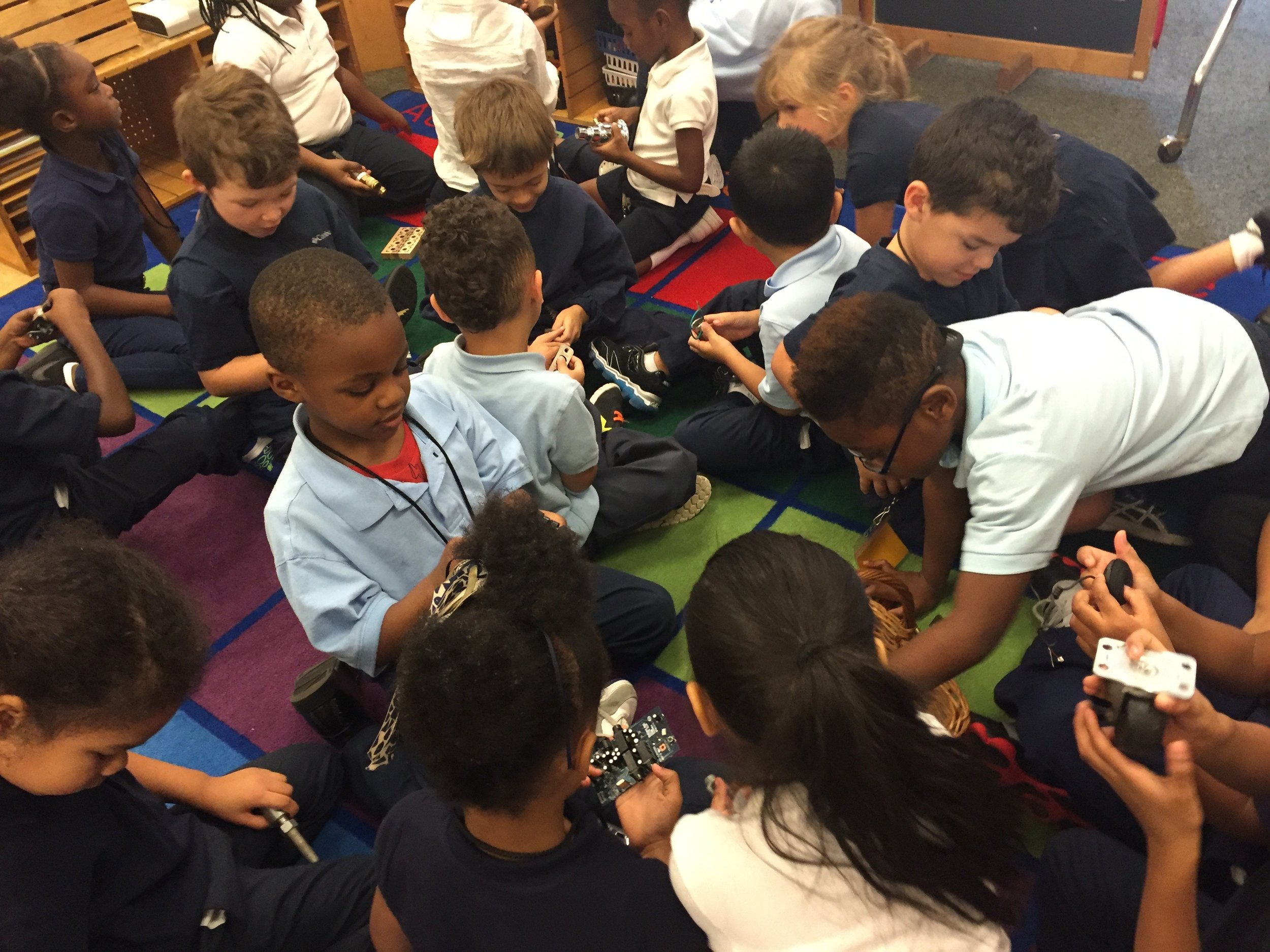 children collaborate and create thinking with others of various backgrounds with rigor and kindness -
