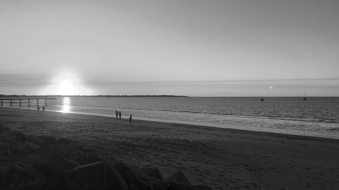 Sunset on Hervey Bay, Australia.