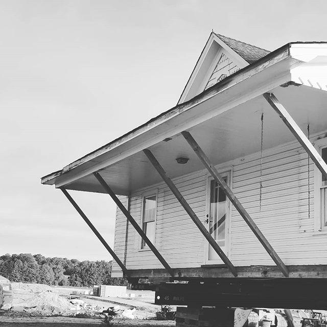 Moving day! #inclusionstudio #architecture #design #historicpreservation #historic #housemove #historicrenovation