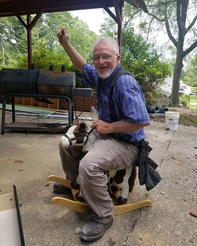Riding into Friday like a boss. We love Mr. Richard! #inclusionstudio #architecture #design #raleigh #funny #friday #electrician