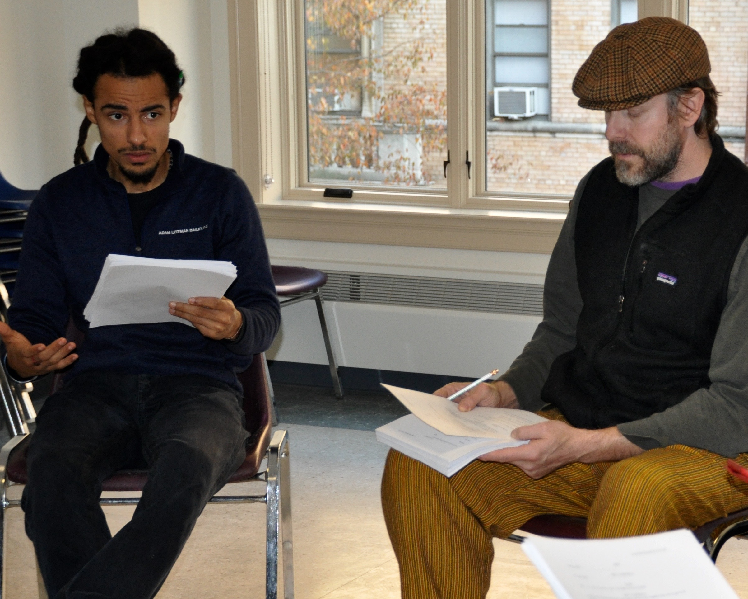 Silvestre Rasuk (L) and Director Josh Liveright | Photo: Jacki Goldhammer