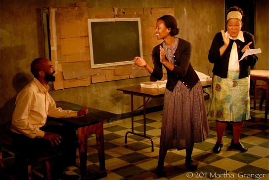 """On the Cusp"" - Craig Anthony Bannister, Medina Senghore, Lori Brown   (Photo - Martha Granger)"