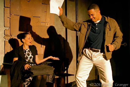 """Read Good"" - Suni Reyes, Stewart Villilo (Photo: Martha Granger)"