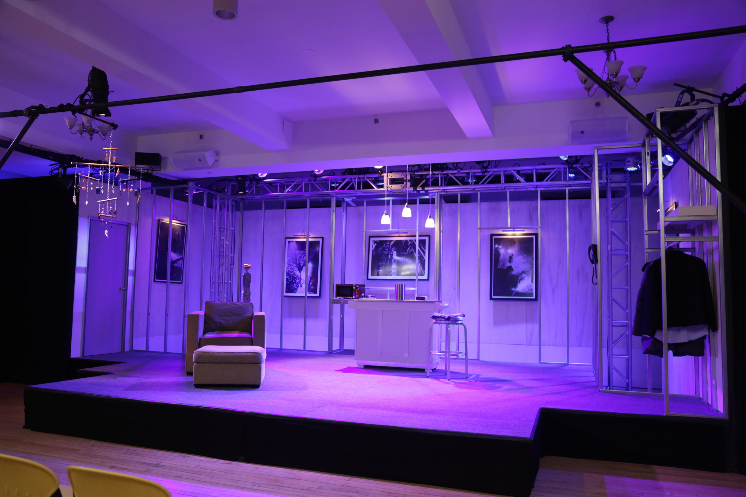 Set Design by Duane Pagano, Lighting Design by Diana Duecker (Photo by Gerry Goodstein)