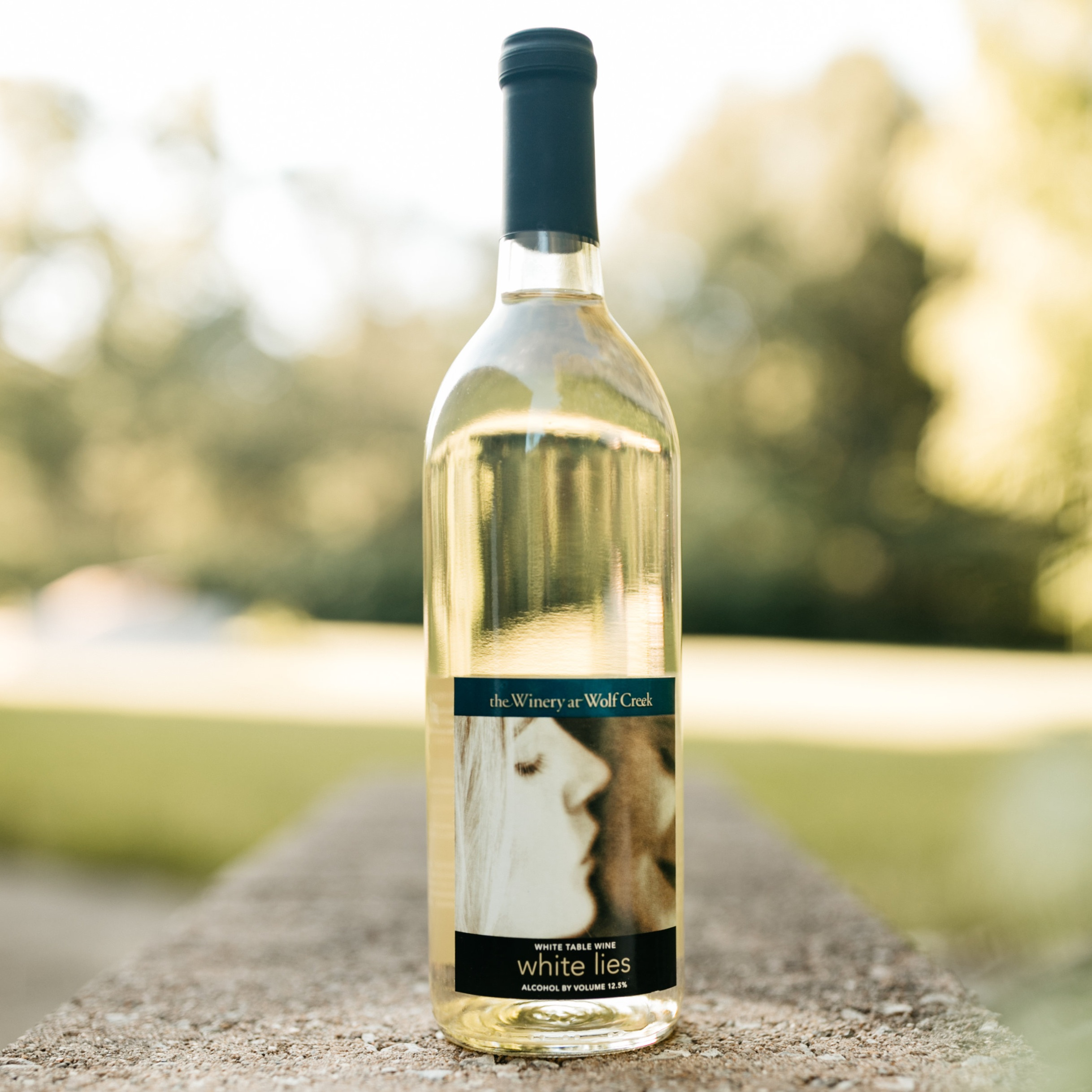white lies - A fruity, sweet wine made from Wolf Creek Delaware grapes.