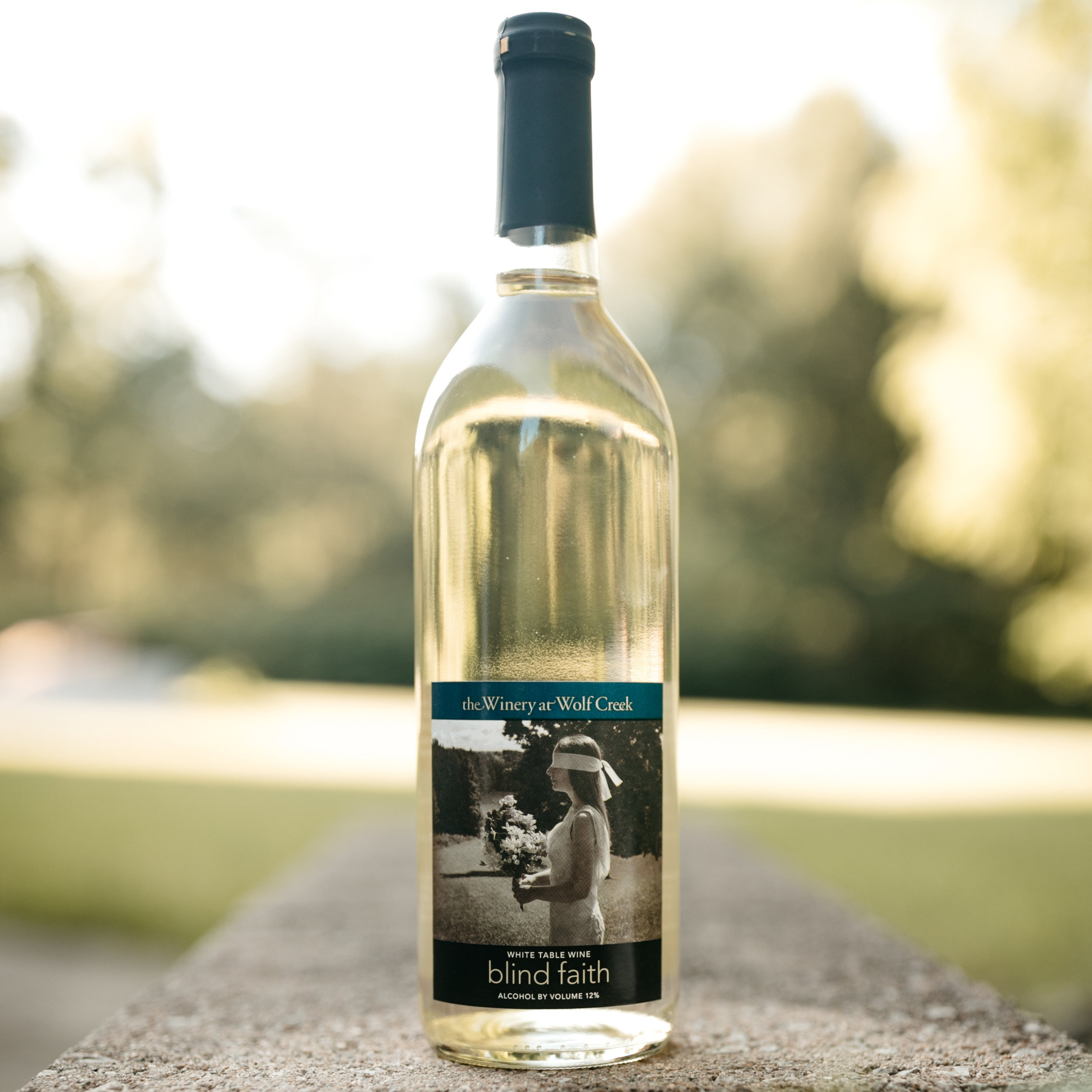 blind faith - A dry white wine made from Seyval Blanc grapes which pairs well with chicken, seafood and summer fruits.