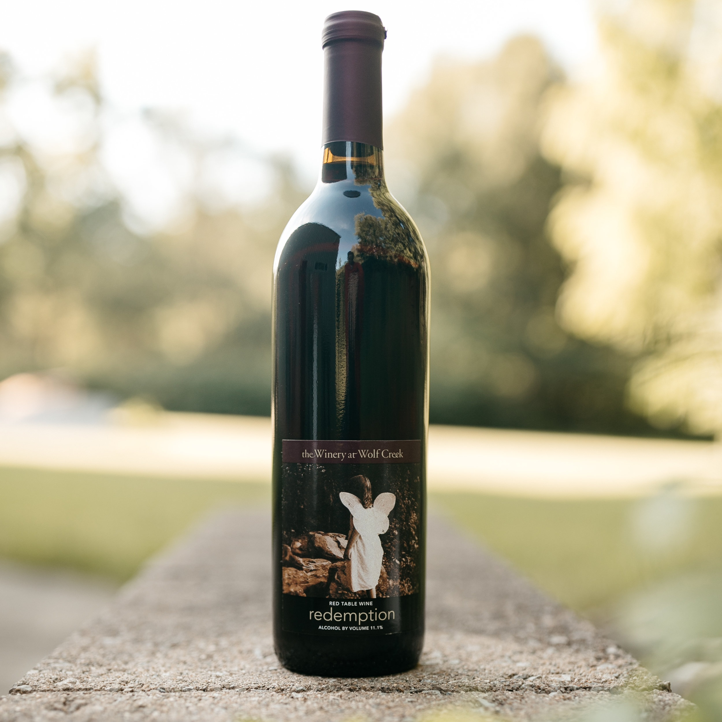 redemption - A full bodied, sweet red wine made from a blend of French hybrid grapes.