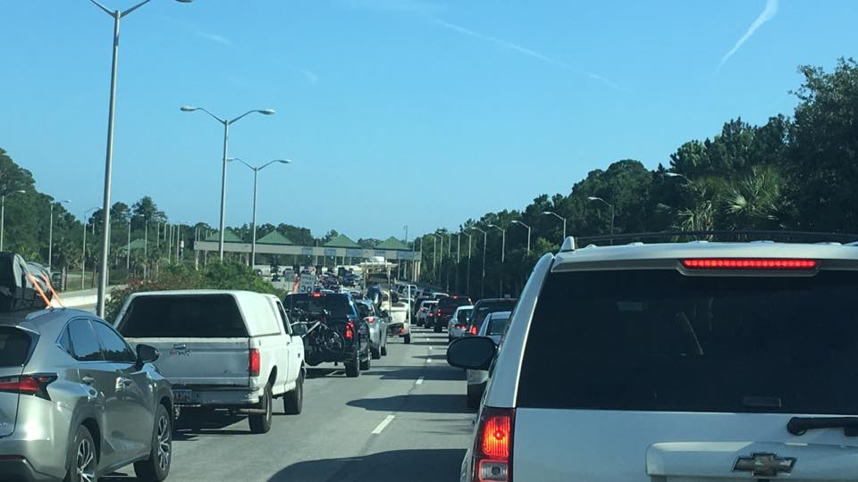 Busy traffic during the Summer on Hilton Head Island