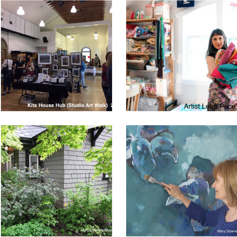 May 11 & 12, 201911am-5pm,The Art Walk - From Point Grey to Main Street, and from Granville Island to 41st Avenue - explore, purchase and engage with artists in their studios over one weekend. Also be sure to visit some of our larger hubs such as Kits Neighbourhood House, where you'll find 13 artists' showing their works all under one roof and the young emerging artists at Lord Byng Mini School for the Arts.Refer to the MAP to find each studio and Hubsand design your self guided tour.