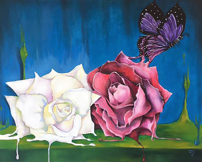 Born From Beauty - Oil on Canvas-Sold