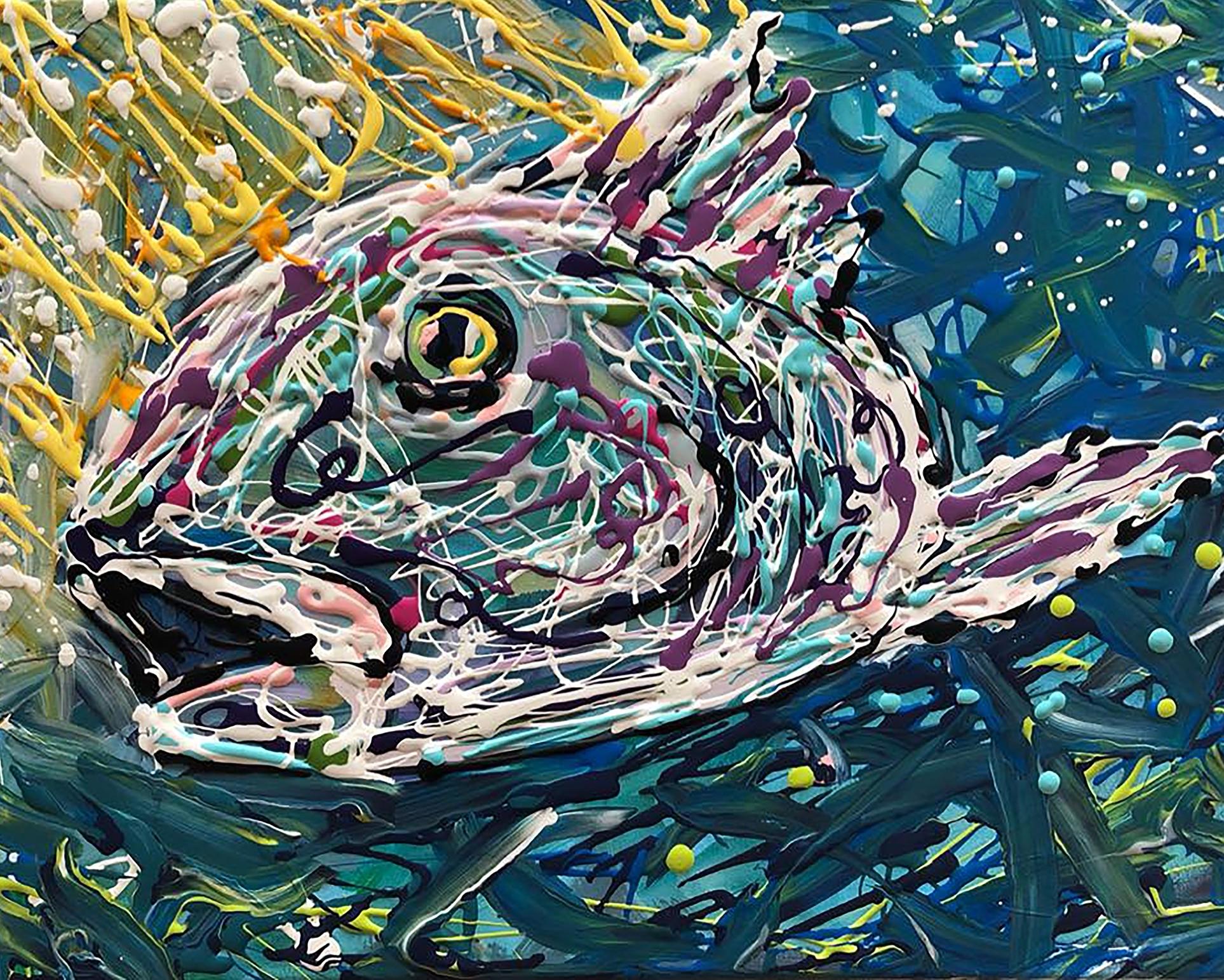 Fish Wild- Available  16x20 Acrylics