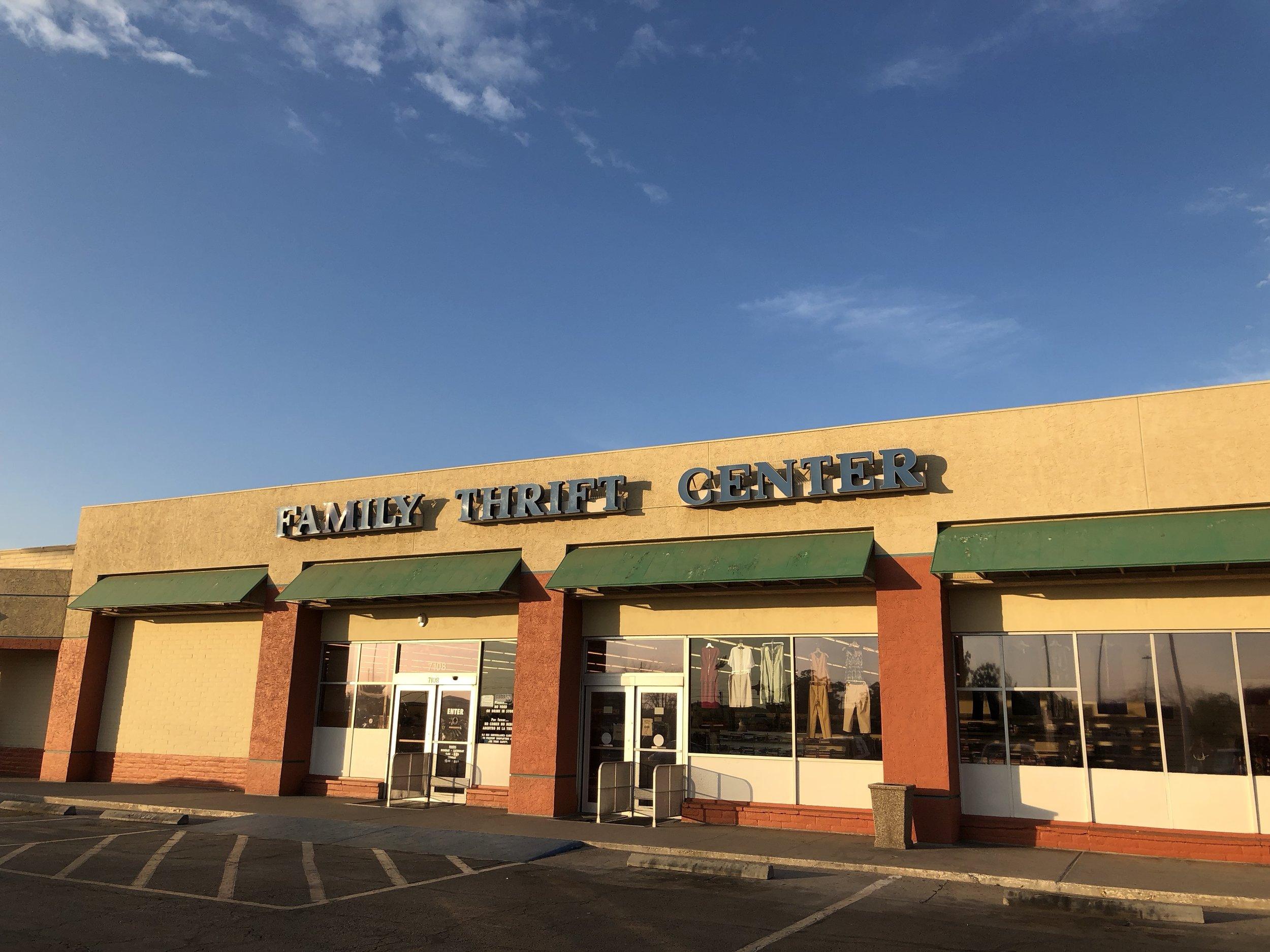 Family Thrift Center Storefront