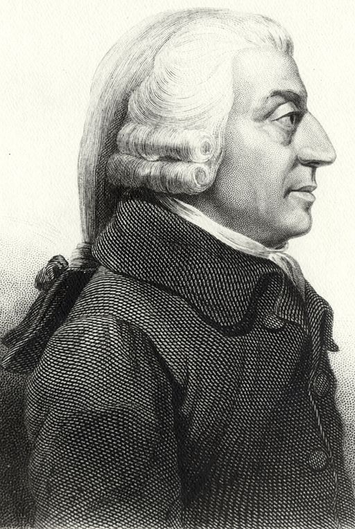 Adam Smith. Etching created by Cadell and Davies (1811), John Horsburgh (1828) or R.C. Bell (1872).