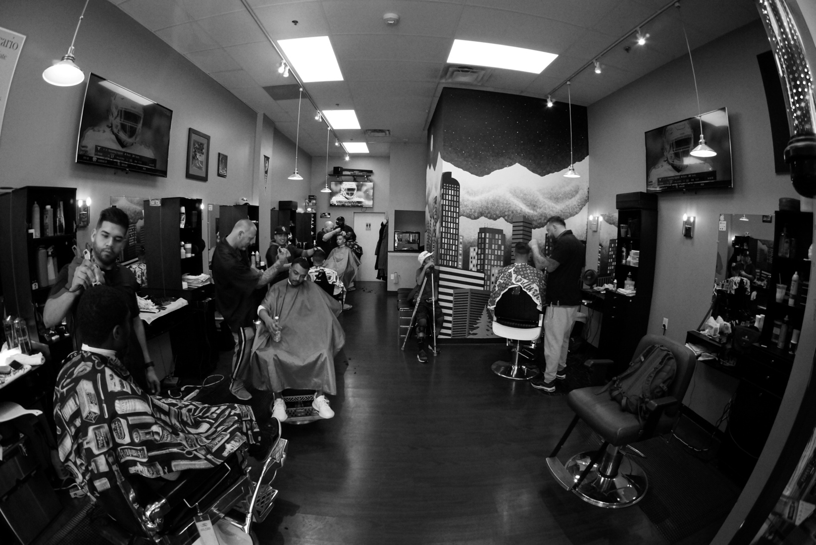 Barber Services - Barbershop services include:Mens cuts, kids cuts, fades, line ups, beard trims, straight razor shaves, parts, design, color and shampoo.