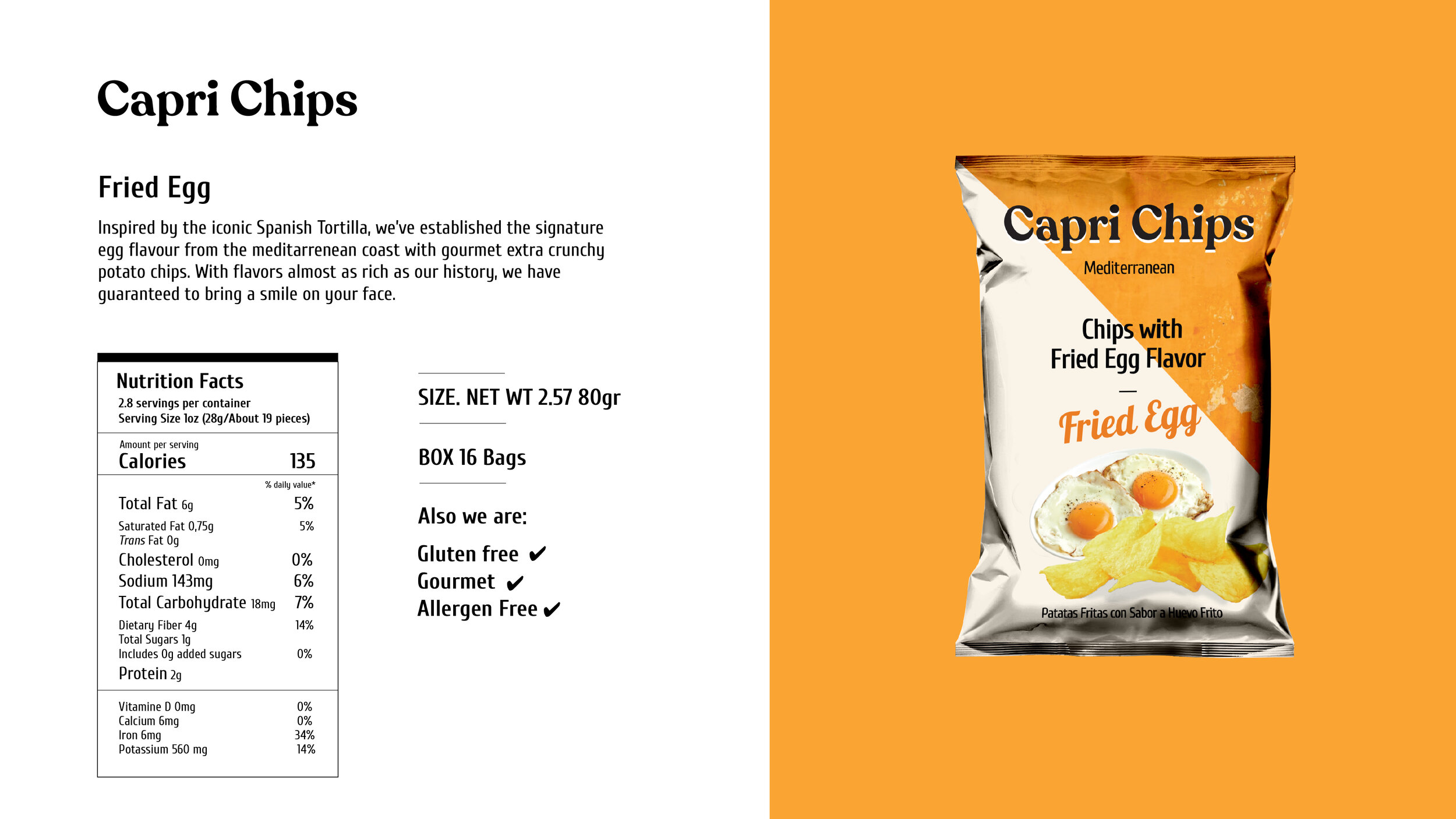 Chips With Fried Egg Flavor Capri Chips