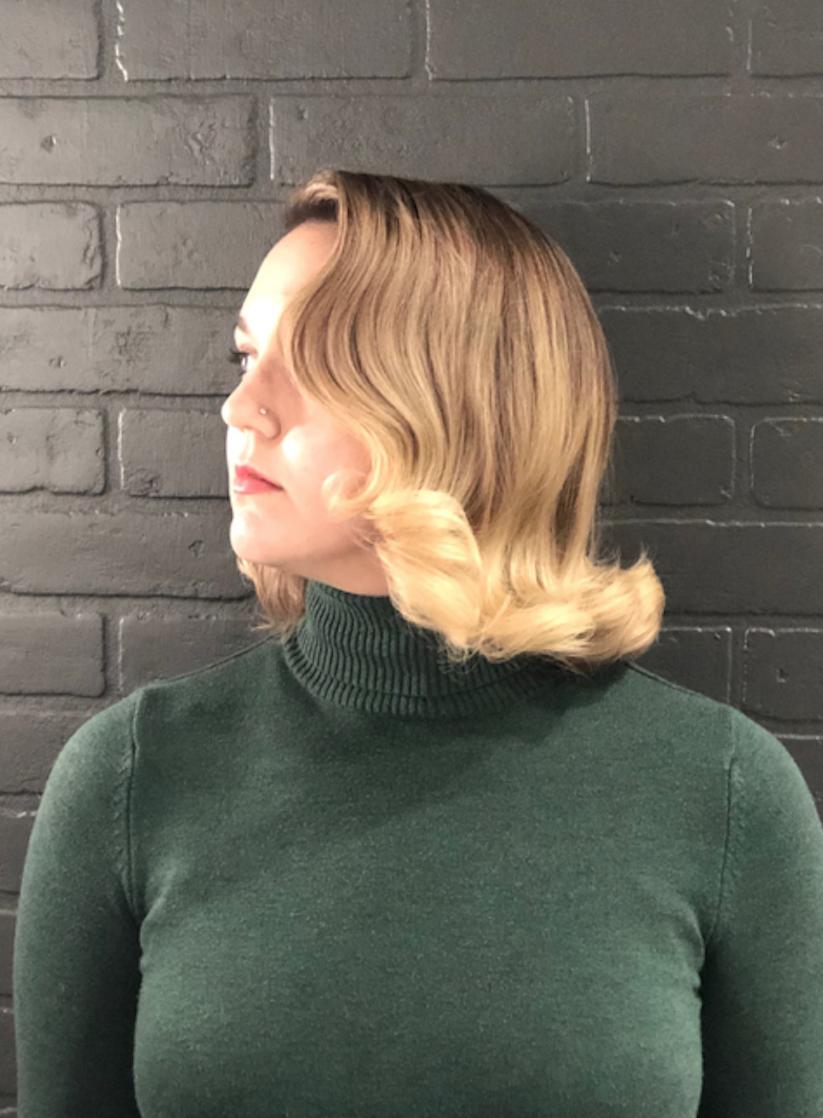 Old Hollywood glamour vintage hair waves
