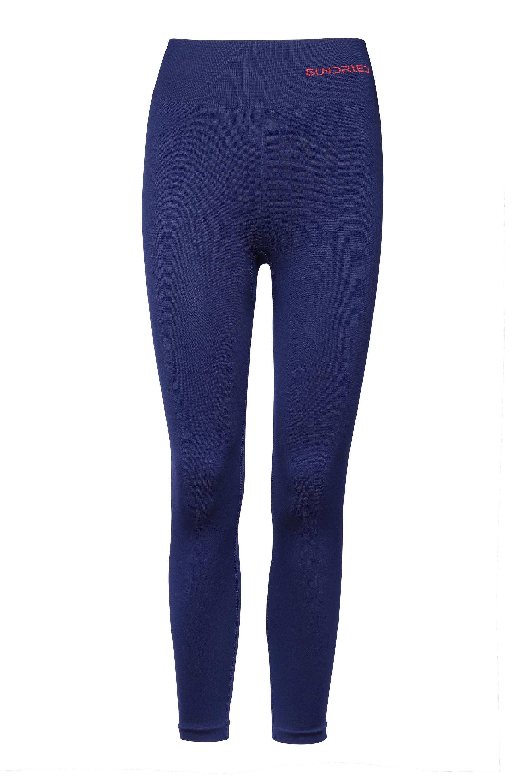 Sundried ethical sportswear Womens capri leggings blue front