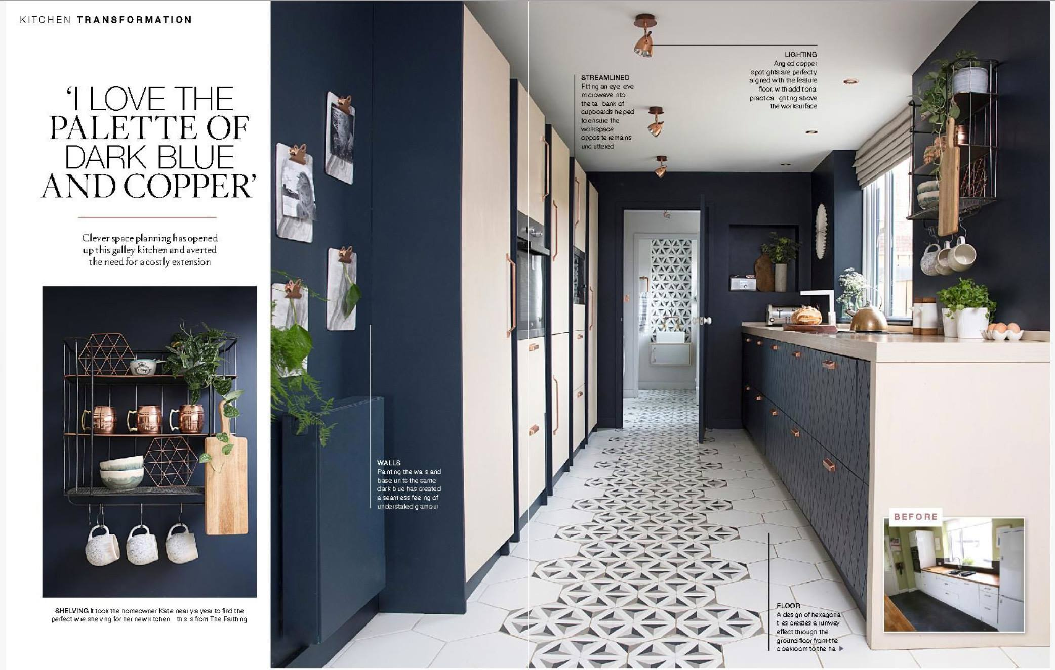 Beautiful Homes in the North magazine spread