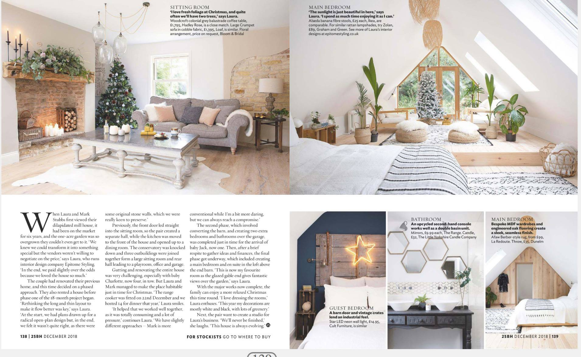 Beautiful Homes in the North magazine photoshoot