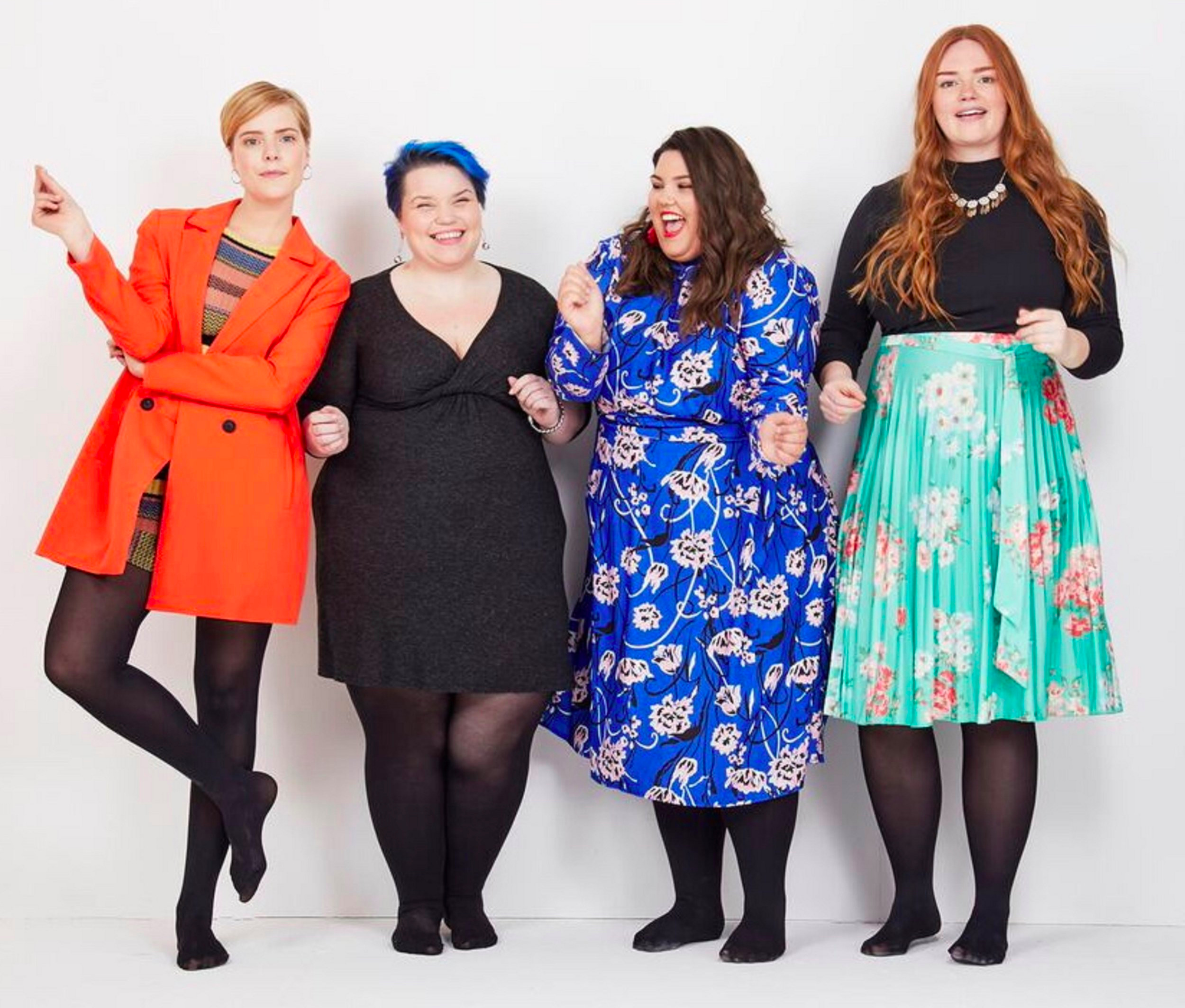 Brie Read (second from left), the founder of Snag tights