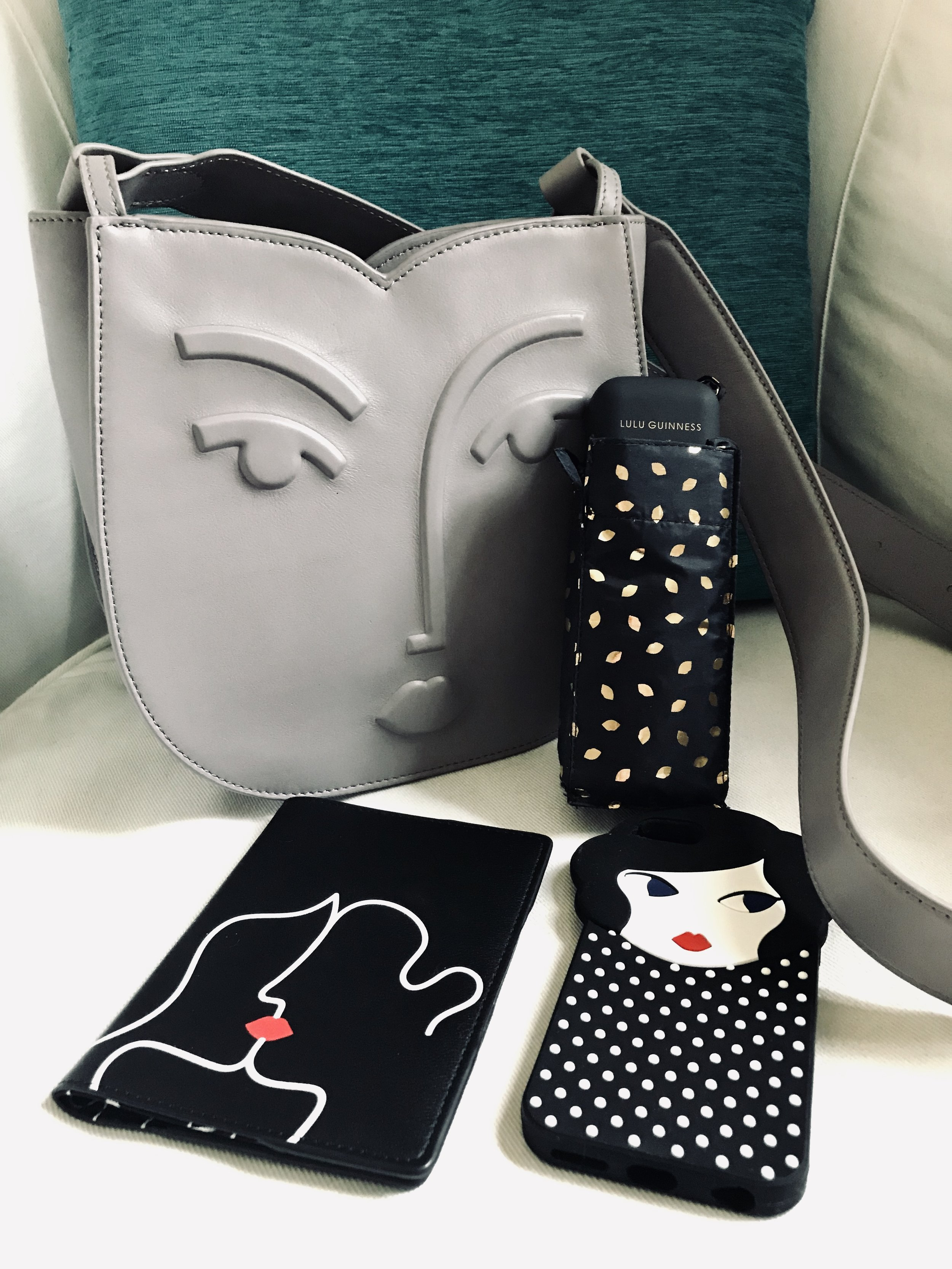 I think I have a thing for Lulu Guinness… (Diary in the handbag and I also forgot my Lulu Guinness T-shirt! Menopause brain at work!!)