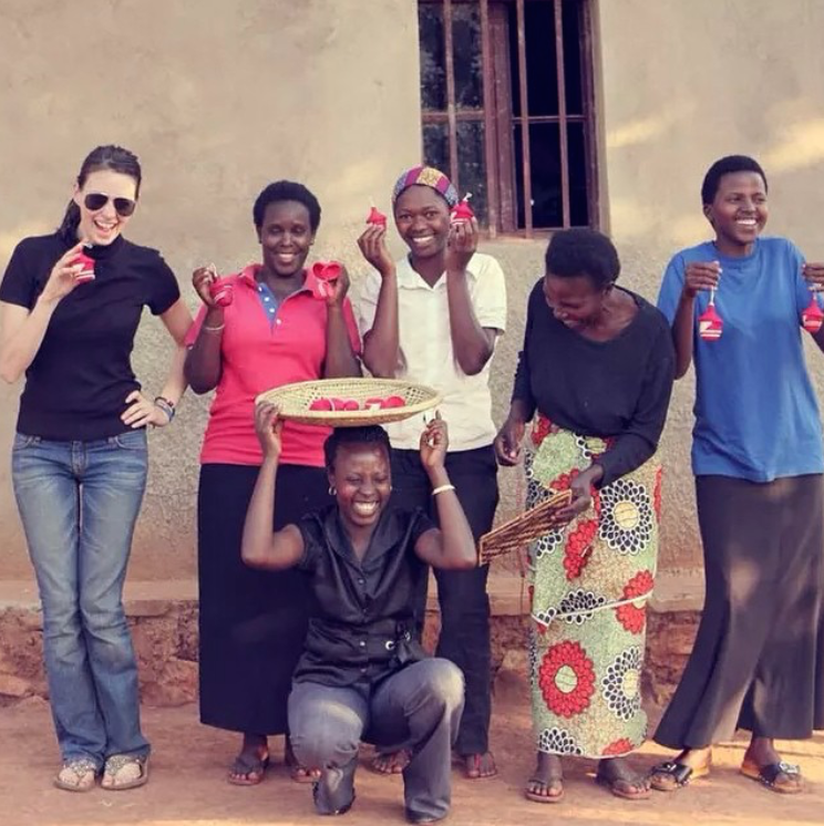 Having fun at Badala, a not-for-profit organisation in East African and Central America. The money the artisans earn has revolutionised their families' lives