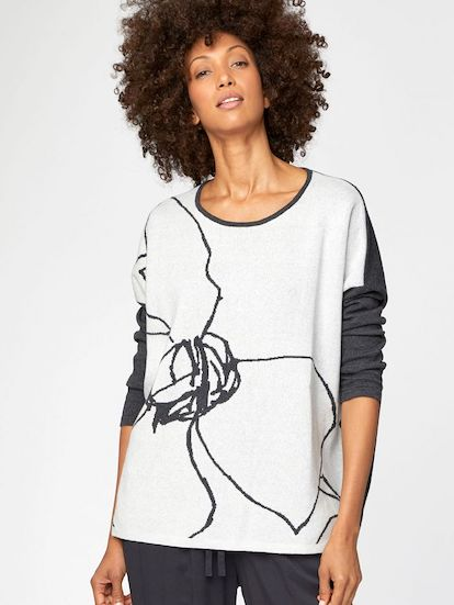 Thought Flower Sketch Organic Cotton Knit Top.jpg