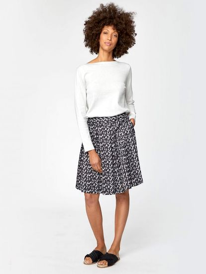 Thought Renee Tencel Pleated Skirt With Pockets.jpg